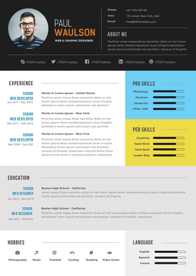 Elegant Modern CV Resume