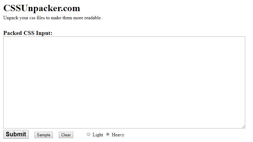 CSS Unpacker