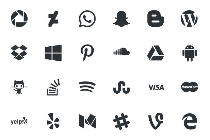 Darmowe social icons od Picons.me
