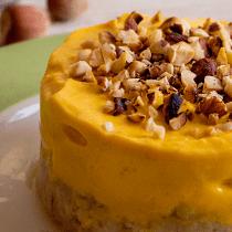 torta cheesecake gelato alla zucca ricetta light fit proteica senza zucchero