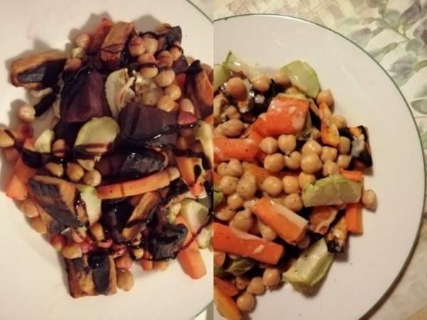insalata tiepida ceci carote rape rosse patate dolci ricetta