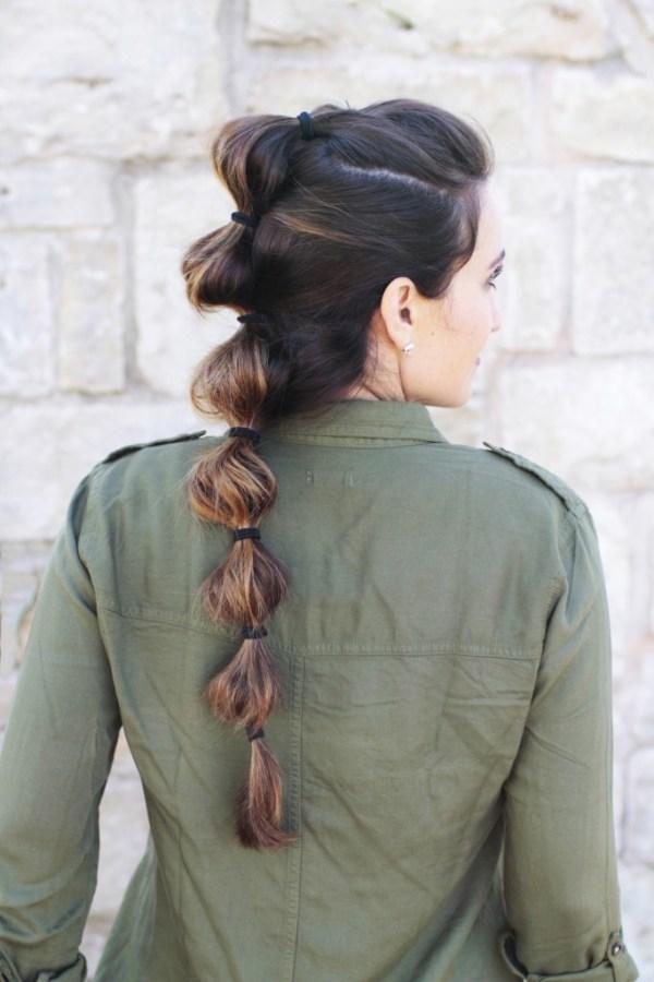 cute girls hairstyles bubble braids