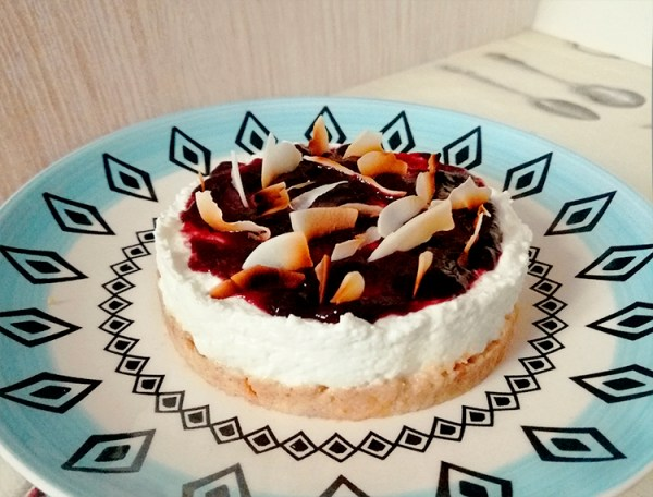 fit cheesecake ricetta light dolci yogurt greco skyr fette biscottate