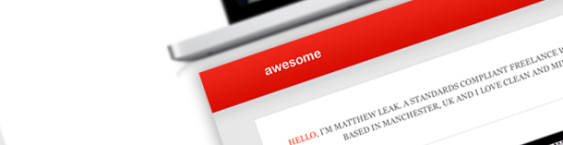 Create an awesome minimal web design in Photoshop