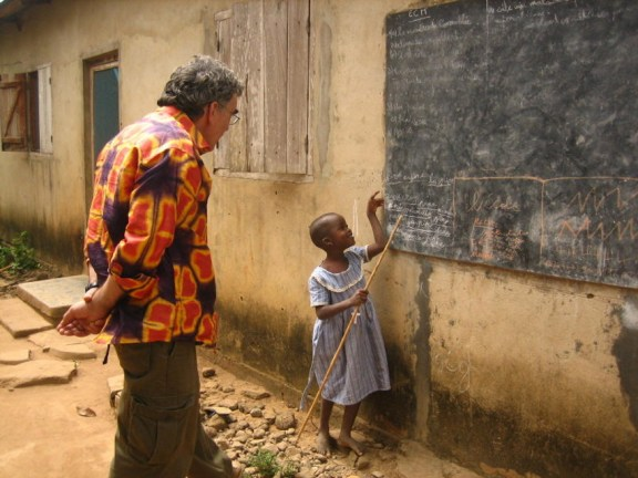 Walter Albisetti in Africa.