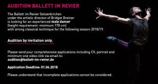 Audizione in Germania per Ballett Im Revier