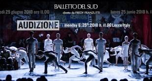 Audizione Balletto del Sud per la stagione 2018/2019!
