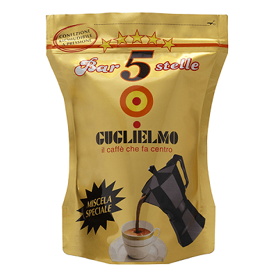 Caffè GUGLIELMO macinato 5 Stelle Oro