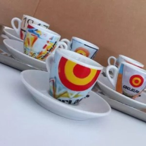 Set 6 Tazzine da Caffe GUGLIELMO ART DESIGN