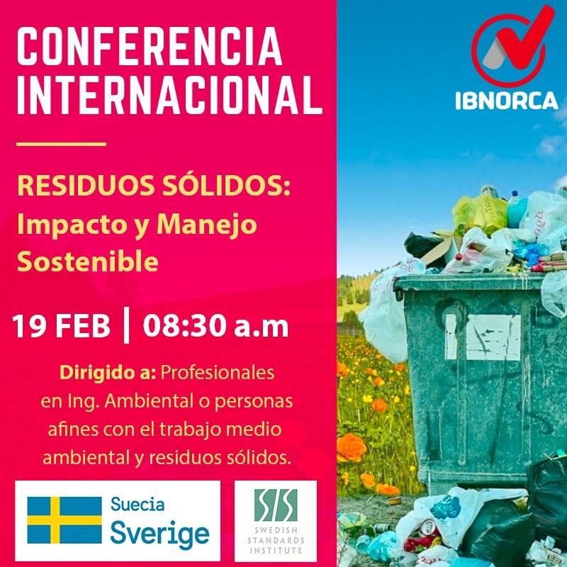 Conferencia Residuos sólidos impacto y manejo sostenible.