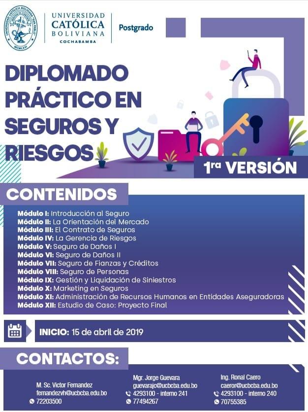 Diplomado práctico en Seguros y Riesgos 2019