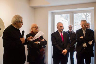 Alain Le Gaillard, Président de la Fondation Tutundjian, Jean-Pierre Claveranne, Président de la Fondation Bullukian, Georges Képénékian, Premier adjoint au Maire de la Ville de Lyon, Loic Graber, Adjoint à la culture.