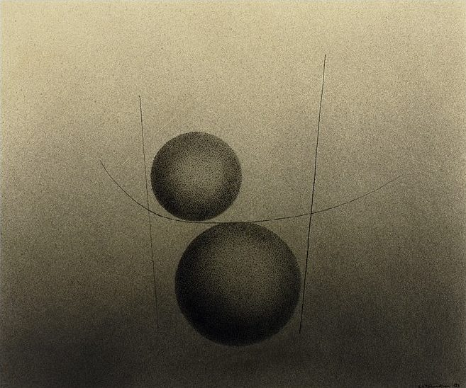 Untiltled, 1928, wash and indian ink on paper, 28 x 33 cm