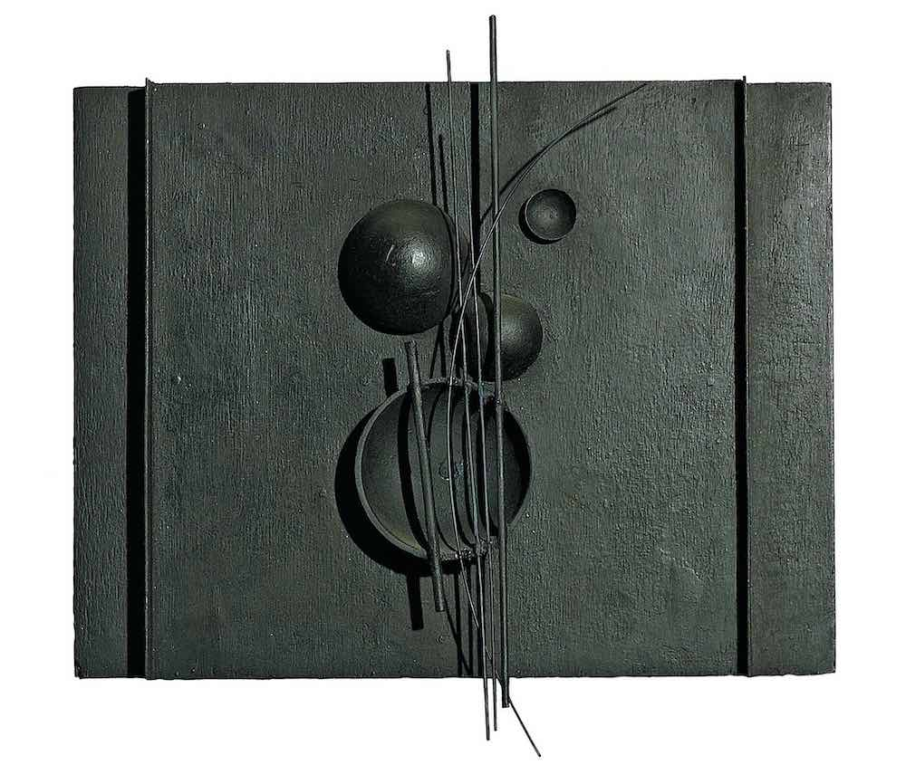 Sans titre, 1928 Bois et métal peints 22,5 x 29 cm