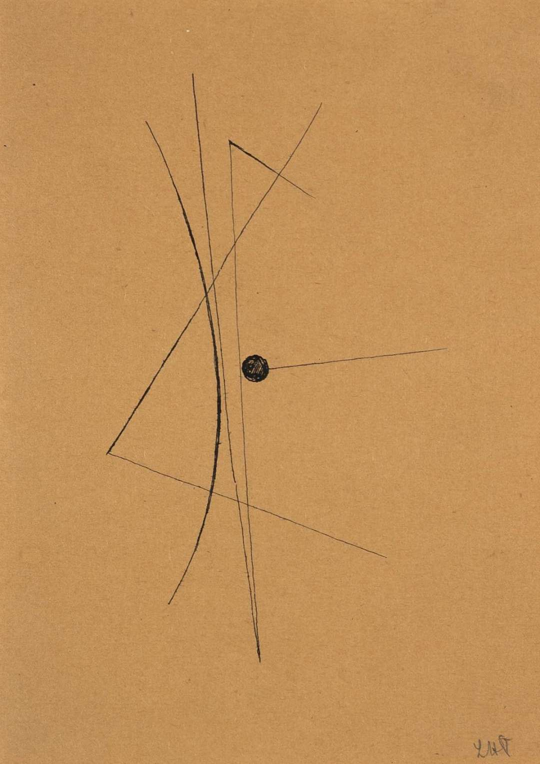Sans titre, 1928, encre de chine sur papier, 16,2 x 11,8 cm, collection privée, Paris