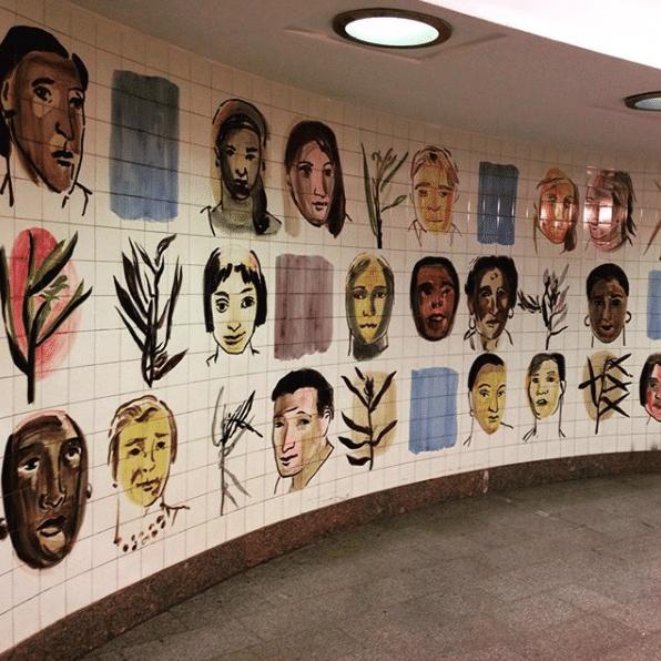 Вестибюль станции метро Белорусская, 2016 год