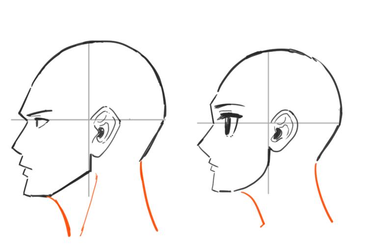 横顔の描き方5