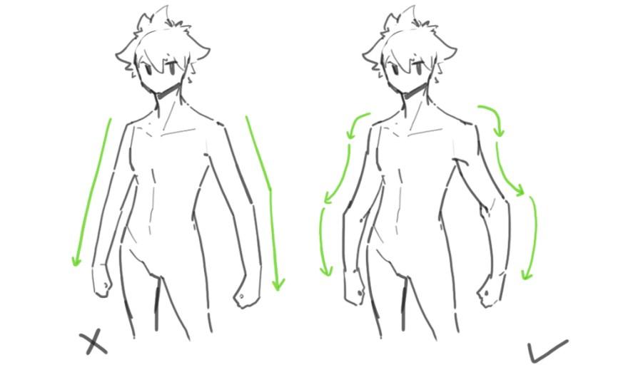 腕の描き方2
