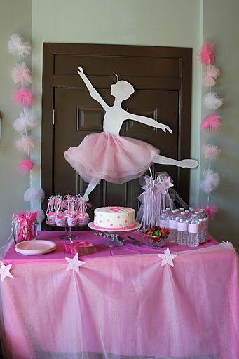 Fiesta infantil con tema de bailarinas  ballet 3