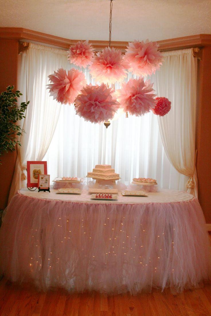 Ideas de mesas de postres para baby shower 28