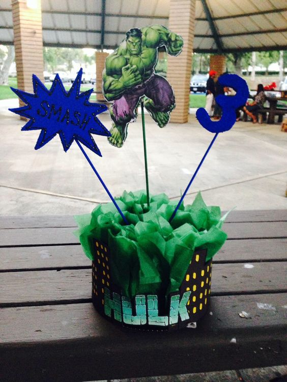 Ideas para fiesta de cumpleaos con tema de Hulk 16