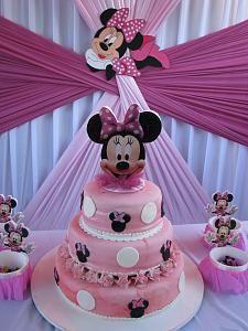 Pasteles para fiesta infantil de minnie mouse 13