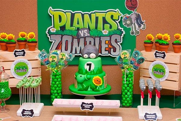 Decoracin para cumpleaos de Plants vs Zombies ideas