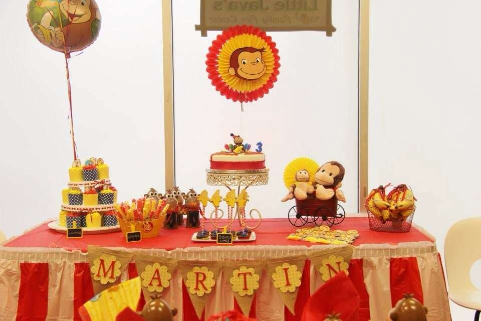 decoracion de jorge el curioso para cumpleanos infantiles