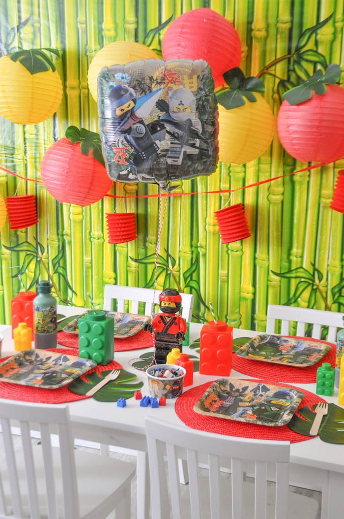 Fiesta Infantil The Lego Ninjago Decoracion De