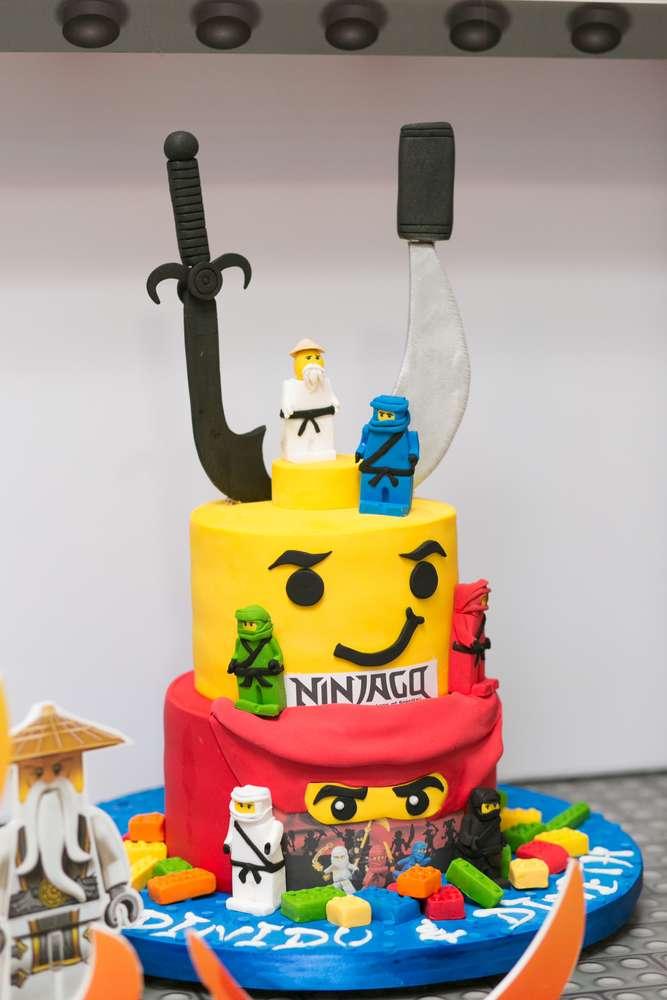 pastel para cumpleanos de ninjago  Decoracion de Fiestas