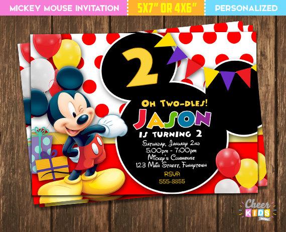 Invitaciones De Mickey Mouse 8 Decoracion De Fiestas