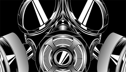 Create a Badass Gas Mask in Illustrator | Tutvid.com