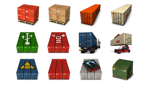 Container and Warehouse Icons Pack