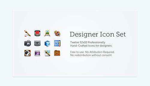 Designer Icons – Professionally Hand-Crafted Free Icon Set