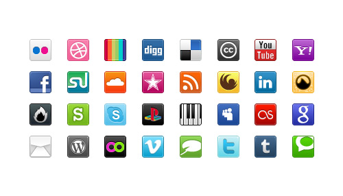 Free Social Media Bookmark Icons