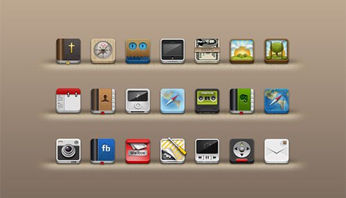 Beautiful 3D Icons, Facebook and more