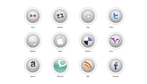 Button-style Social Icons