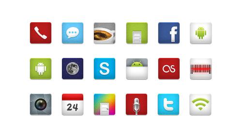 iDroid Social Media Icons