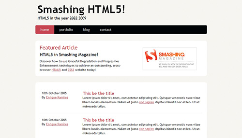 Coding An HTML 5 Layout From Scratch   Tutvid.com