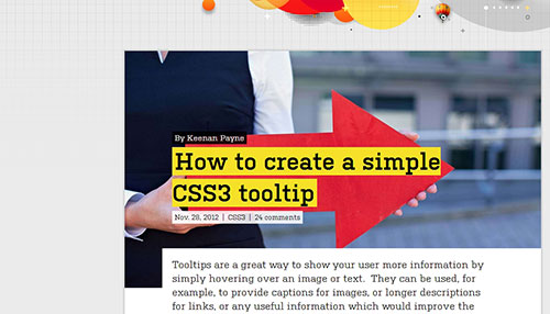 How to create a simple CSS3 tooltip