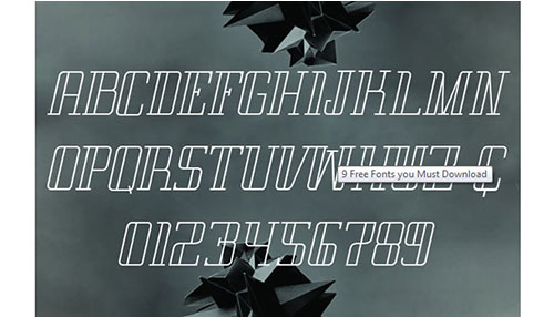 9 Outstanding New Free Fonts