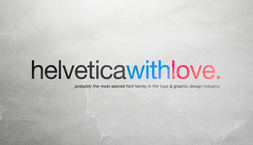 20 Awesome Helvetica Based Typographic Posters