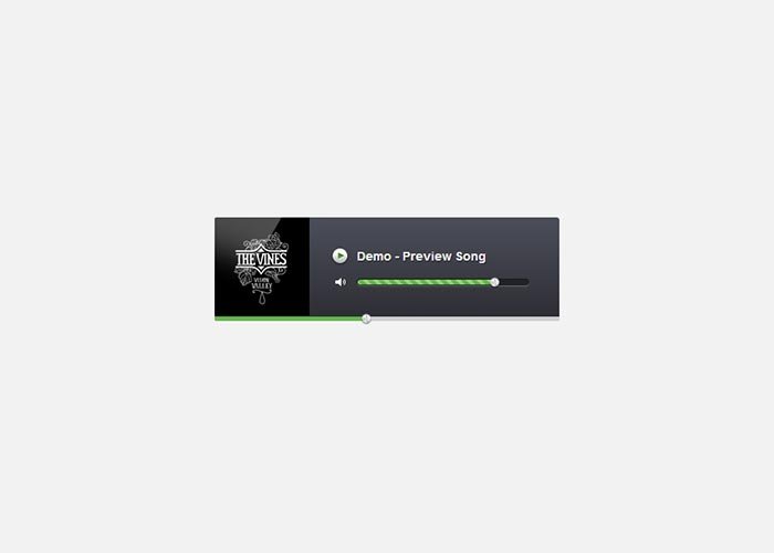 9. How to Create an Audio Player in jQuery, HTML5 & CSS3