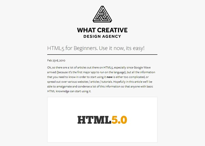 16. HTML5 for Beginners. Use it now, its easy!