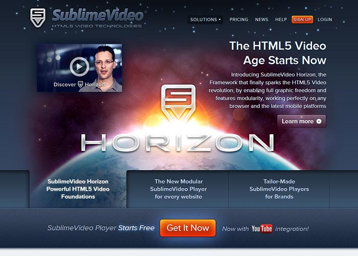 29. Sublime HTML5 Video Player