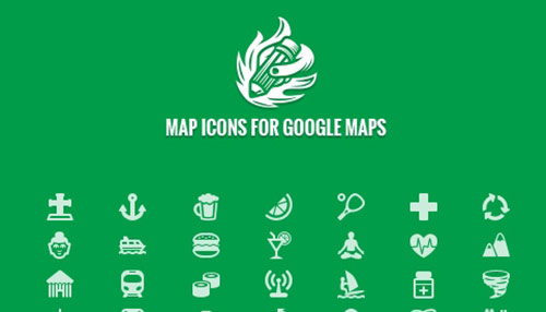 Free 200 Map Icons for Google Maps in PSD Vector Shape format