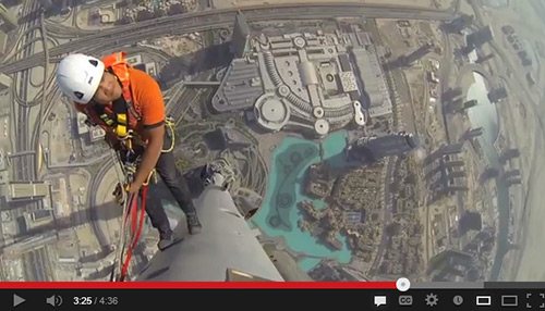 Just another reason why Joe McNally is one of my favorite photographers. Climbing to the top of The Burj Khalifa