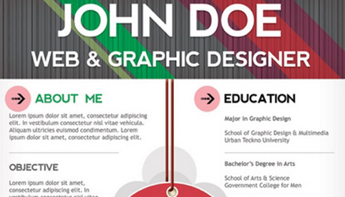 25 Creative Examples Of Free Resumes PSD