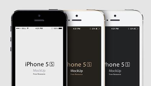 iPhone 5S Psd Vector Mockup