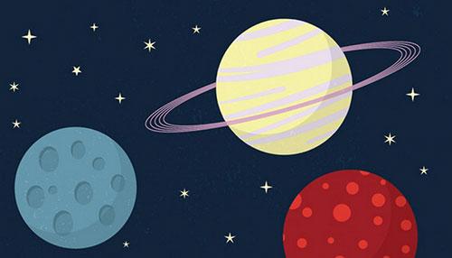 Beginner Illustrator Tutorial: Cartoon Style Space Scene